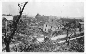 Fergus Fall Minnesota ? Disaster Scene Real Photo Antique Postcard J79594