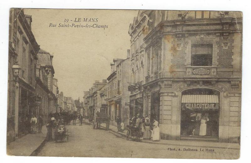 1919 Le Mans France Photo Postcard - WW1 USA Soldier Postcard - See Rev (NN164)