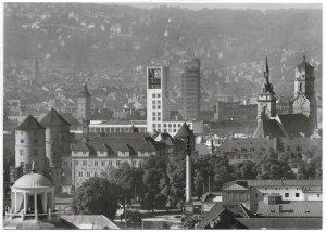 Germany. Stuttgart.  Unused card.  Writing on the back.