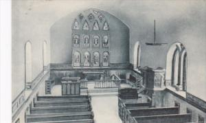 Virginia Smithfield Interior Old St Lukes Church Built 1632 Albertype