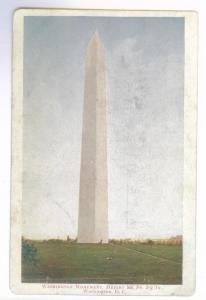 Washington Monument, Washington DC undivided back unused PPC