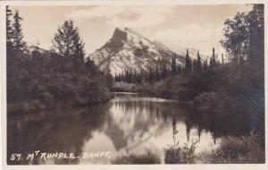 Canada Alberta Banff Mount Rundle Real Photo
