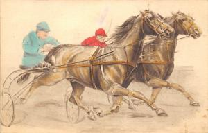 Horse Racing, Trotters, Postcard Unused
