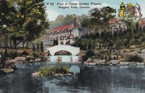 NIAGARA FALLS, Ontario, Canada, 1900-1910's; Pool In Oakes Garden Theatre