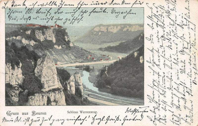 Schloss Werrenwag, Greetings from Beuron, Germany, Postcard, Used in 1904
