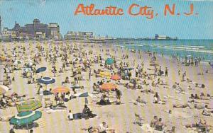 New Jersey Atlantic City Beach Scene 1963
