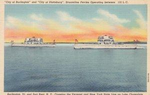 LAKE CHAMPLAIN, New York; Ferries Burlington & Plattsburg , 1930-40s
