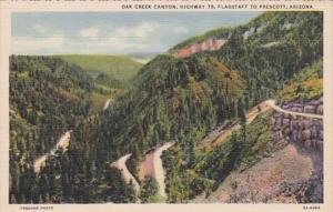 Arizona Oak Creek Canyon Highway 79 Curteich