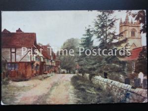 Kent CHIDDINGTON Chiddington Road Church and Post Office c1908 by Photochrom Co