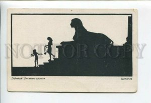 3177080 SILHOUETTE Egypt SPHINX by DIEFENBACH Vintage PC
