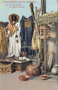 Ghana Gold Coast Hausa Handler aus der Ausstellung der Basler Mission Postcard