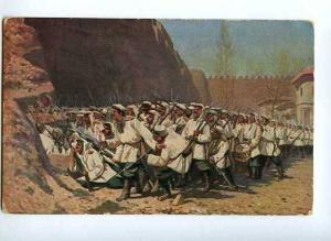 128038 Russian Soldiers by VERESCHAGIN Vintage color PC