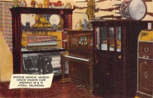 Atoka Oklahoma Antique Musical Museum Interior Antique Postcard K85613