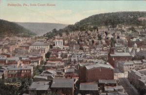 POTTSVILLE, Pennsylvania, 00-10s; Bird's Eye View from Court House