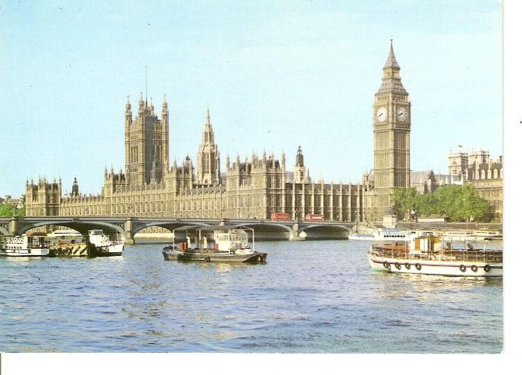 Postal 050113 : Palace of Westminster from across the Thames London