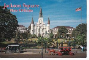 Louisiana New Orleans Jackson Square With St Louis Cathedral