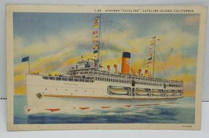 Catalina Island Steamer California Vintage Postcard