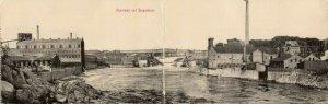 norway norge, SARPSFOSSEN, Double 2x Panorama Postcard (1920)