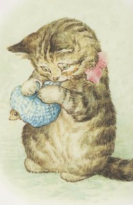 The Story Of Miss Moppet 1906 Beatrix Potter Book Postcard