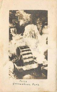 LP63 Yellowstone National Park  Wyoming  RPPC Postcard  Falls Water Wheel RPO