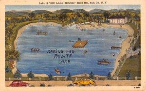 Lake of Six Lake House, Landis Publishing Rock Hill, New York Postcard