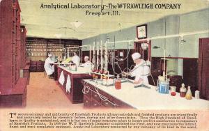 Freeport IL~WT Rawleigh Analytical Laboratory~DF Leatherman Salesman Rensselar