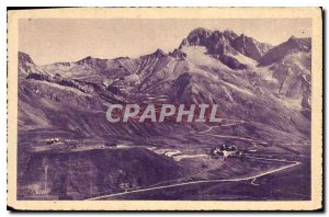 Old Postcard Dauphine Lautaret laces Galibier and the Grand Galibier