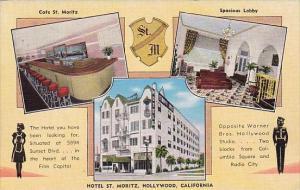 California Hollywood Hotel Saint MoritzCafe And Spacious Lobby