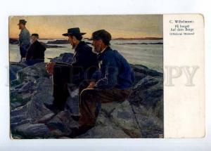 233405 SWEDEN Type on Mountain by WILHELMSON Vintage postcard
