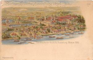<A4>1896 BERLIN Germany Berliner Gewerbe Ausstellung Birdseye View 26
