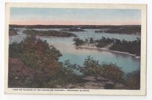 NY Thousand Islands View of Islands in Canadian Channel Vintage Postcard