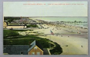 View Of Old Orchard Beach After The Fire, ME Postcard (#7254)