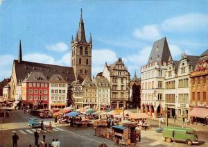 Trier Mosel Hauptmarkt Market Palce Street AUto Cars Church Kirche
