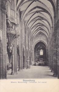 Strassburg , France , 00-10s ; Munster, Mittelschiff - Cathedrale, Nef central