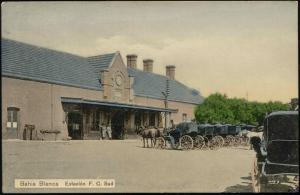 argentina, BAHIA BLANCA, Estacion F.C. Sud, Railway Station, Horse Carts (1910s)