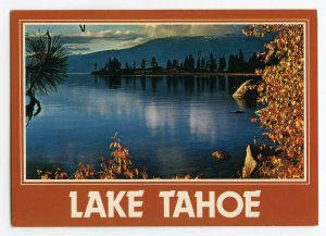 Postcard A Typical Autumn Sunset Lake Tahoe Nevada Continental View Card