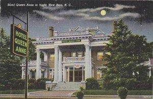 North Carolina New Bern Hotel Queen Anne At Night
