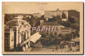 Old Postcard Chatelguyon Theater Etablissement Thermal