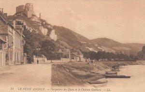 LE PETIT ANDELY, France, 1910-1920s, Perspective des Quais et le Chateau Gail...