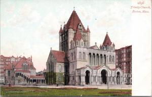 Boston MA Trinity Church Unused Postcard D68