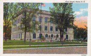 Court House, HURON, South Dakota, 30-40s