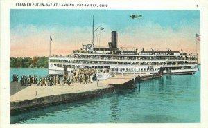 Lake Erie Steamer Put in Bay Landing Ohio Schnoor Fuchs Tichnor  Postcard 21-162