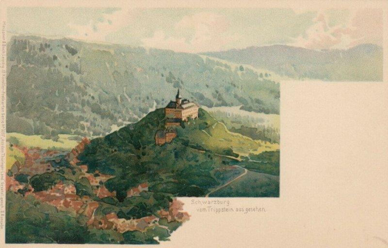 SCHWARZBURG, Germany, 1900-10s; vom Trippstein aus gesehen