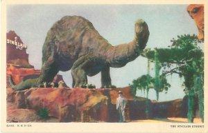 Sinclair Dinosaur Exhibit 1933 Chicago Worlds Fair Postcard