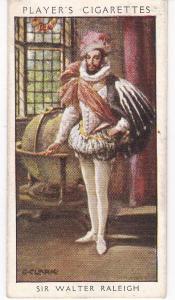 Cigarette Card Player's Dandies No 8 Sir Walter Raleigh