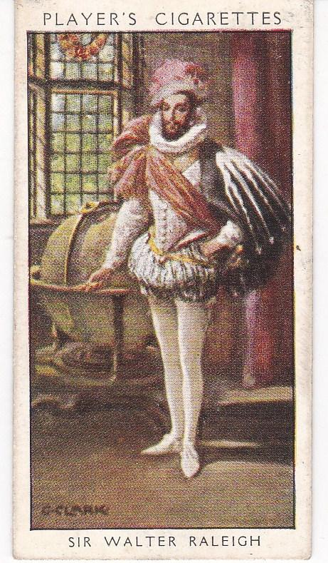 Cigarette Card Player's Dandies No 8 Sir Walter Raleigh