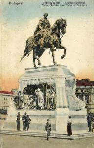 hungary, BUDAPEST, Statue of Andrassy (1920s)