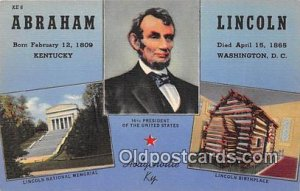 Abraham Lincoln Hodgenville, KY, USA Unused