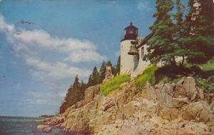 Maine Mt Desert Island Bass Harbor Lighthouse Acadia National Park 1953