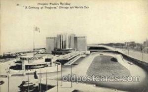 Chrysler Motors Building, Chicago Worlds Fair Exposition 1933 - 1934, Postcar...
